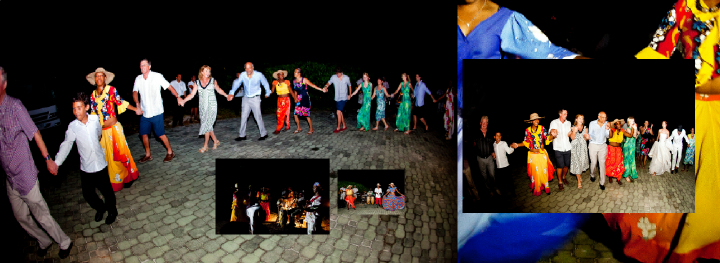 Seychelles wedding evening reception