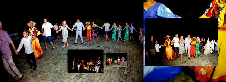 Seychelles wedding evening reception