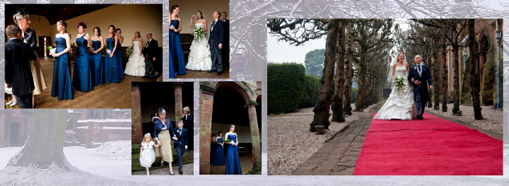 Winter wedding pictures at Thornton Manor