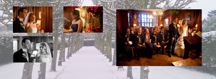 Winter wedding ceremony on New Year's Eve