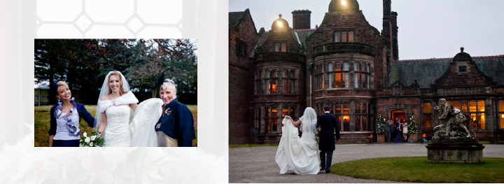 winter wedding photography at Thornton Manor