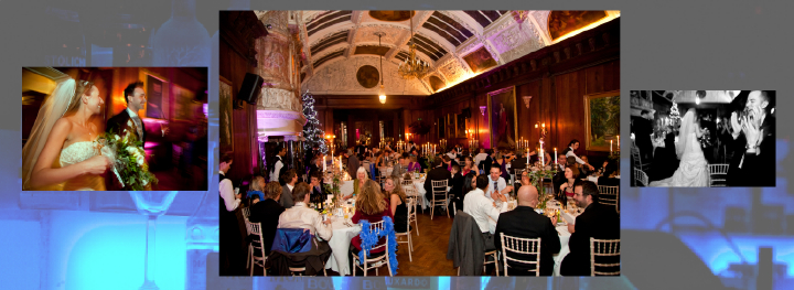 storybook design of wedding reception great hall at Thornton Manor