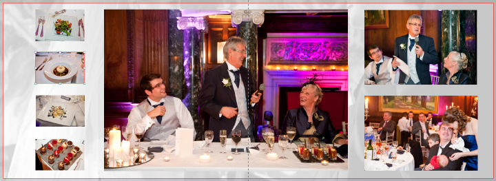 pictures of wedding speeches at Thornton Manor
