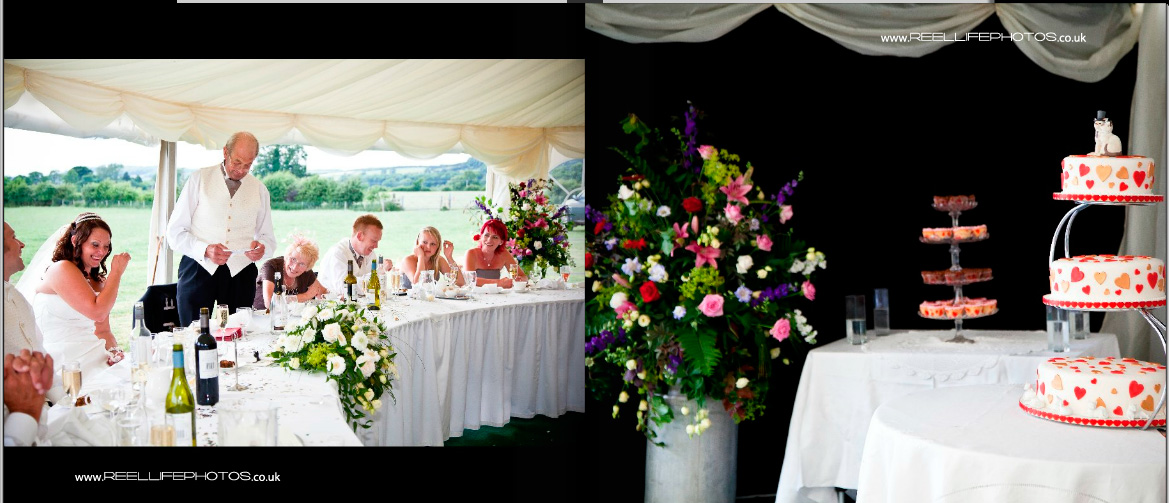 farm wedding inside the marquee