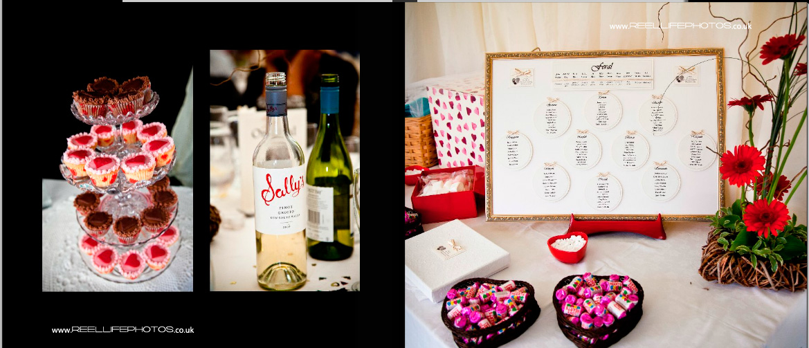 table plan, cupcakes & wine