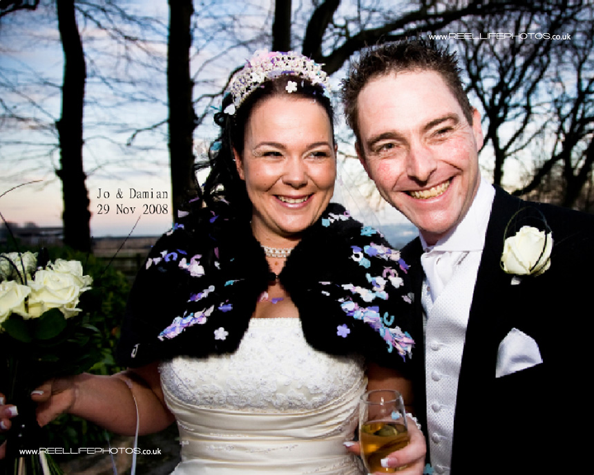 winter wedding picture West Yorkshire