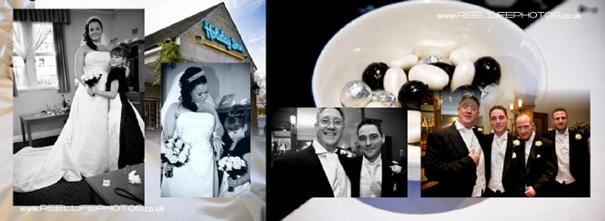 All ready for winter wedding at Tong Holiday Inn near Bradford