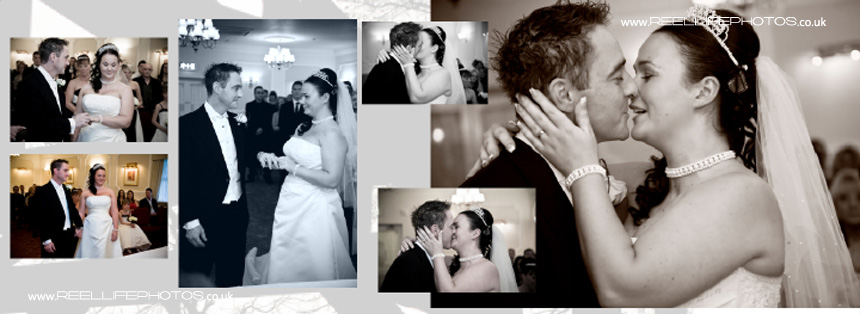 winter wedding kiss pictures in Sepia and Black & White photos