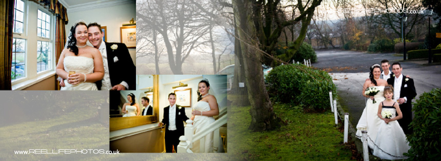 winter wedding photography at Tong near Bradford