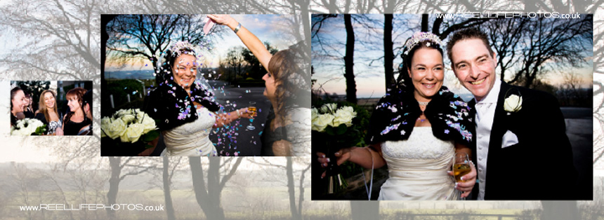 winter wedding confetti pictures