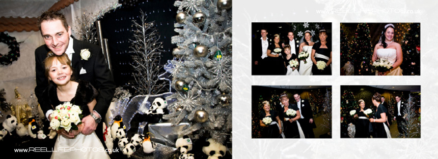 Italian storybook with winter wedding pictures in West Yorkshire