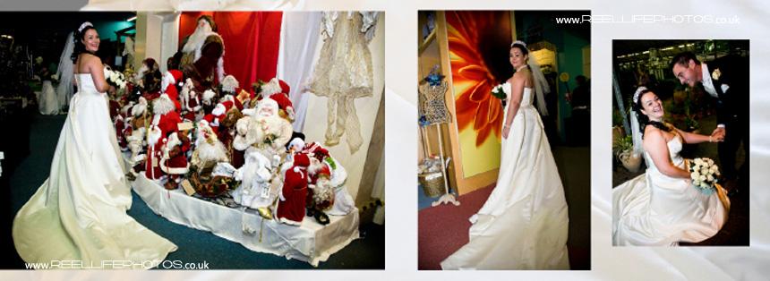 winter wedding creative photography