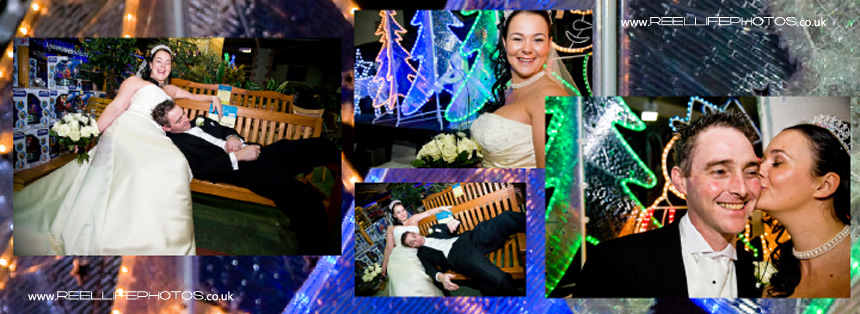 creative winter wedding pictures