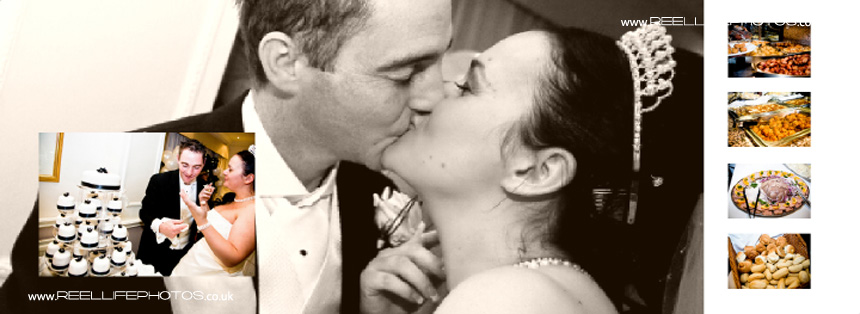 wedding kiss pictures in Sepia