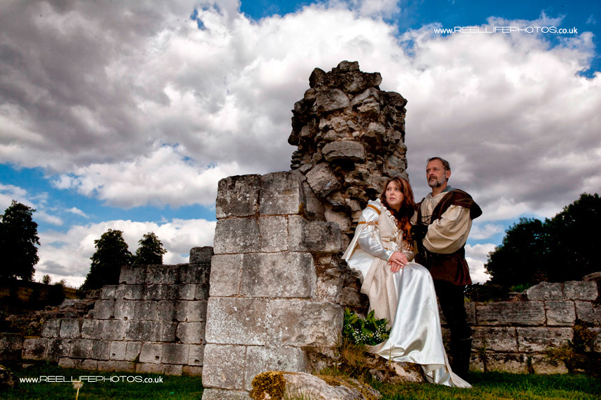 medieval wedding pictures at Roche Abbey in South Yorkshire