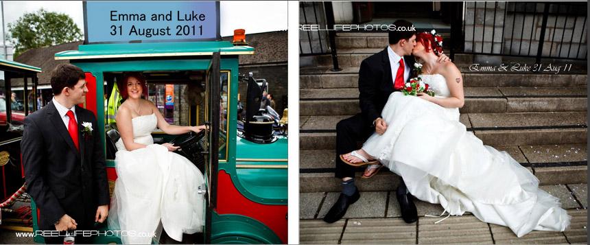 fun wedding photography in the Lake District