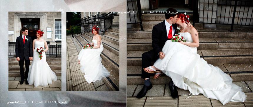 wedding photos in storybook album