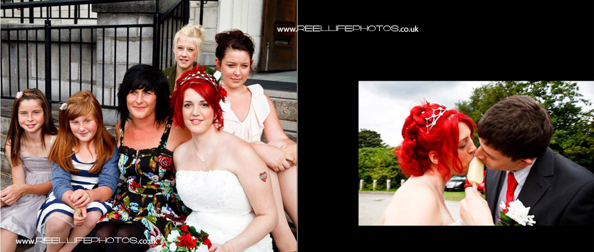 wedding storybook  with photography taken in the Lake District