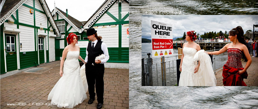 unusual wedding photos by Lake Windermere