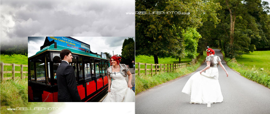 unusual wedding photos in Cumbria