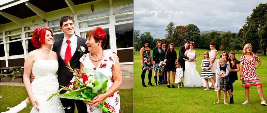 family wedding photos in Kendal at Burnside Cricket Club