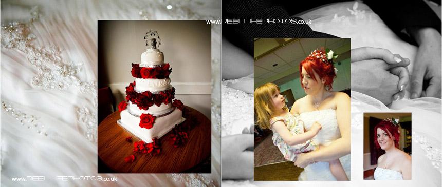 wedding cake and dancing