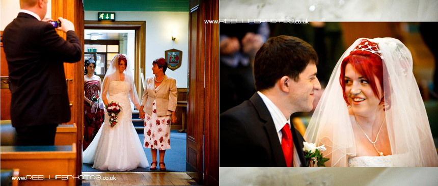 wedding ceremony at Kendal Register Office