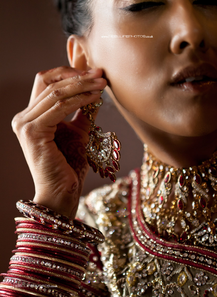 Asian bride in her wedding jewellery
