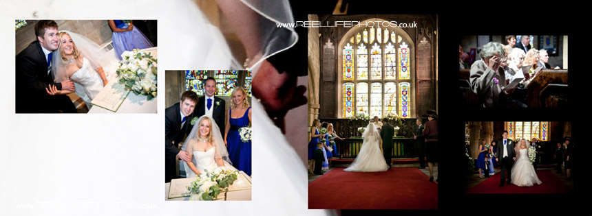 church wedding pictures in storybook album design
