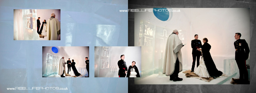 ice hotel chapel wedding vows
