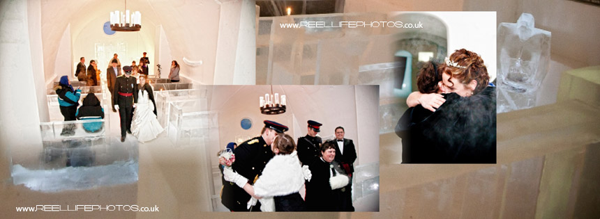 Congratulations to the Ice Hotel couple Zoe and Steve who have just got married in the Ice Chapel!