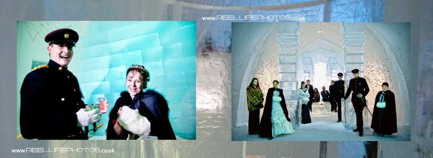 wedding magic and ice sculptures at the Ice Hotel in Sweden