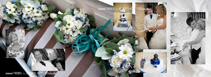 wedding flowers, speeches and cutting the cake at Waterton Park Hotel