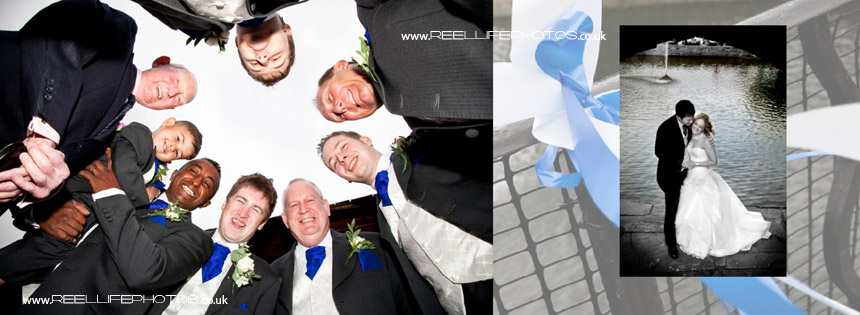 groomsmen contemporary wedding photos at Waterton Park Hotel