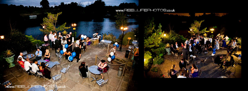 evening weddding reception photos at the back of Walton Hall, Waterton Park Hotel.