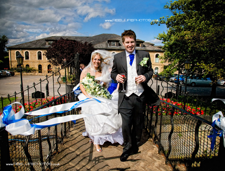 Waterton Park Hotel wedding pictures storybook album cover