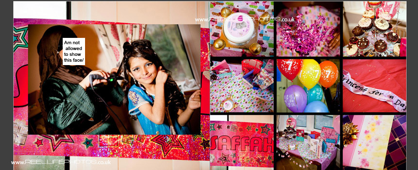 professional birthday party photos in storybook album