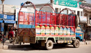 decorated lorry in Pakistan