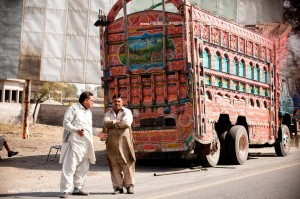 tall painted wagon in Pakistan