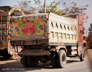 Pakistan transport - wagon with a rose