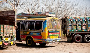 Pakistani bus and wagons