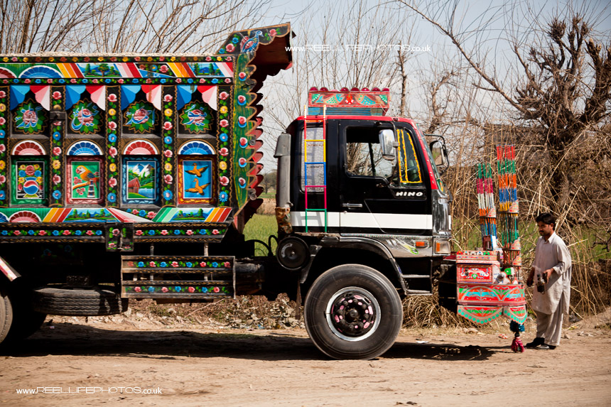 Colourfully decorated lorry in Pakistan