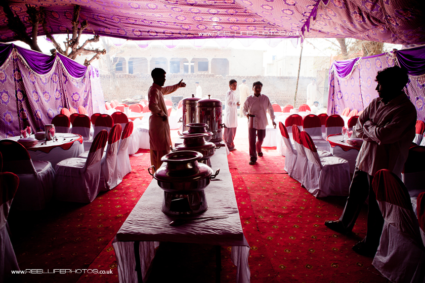 Pakistani wedding in a marquee