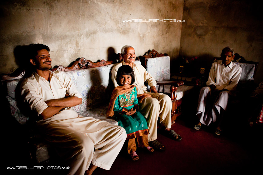 Bride's Family waiting before Pakistani wedding