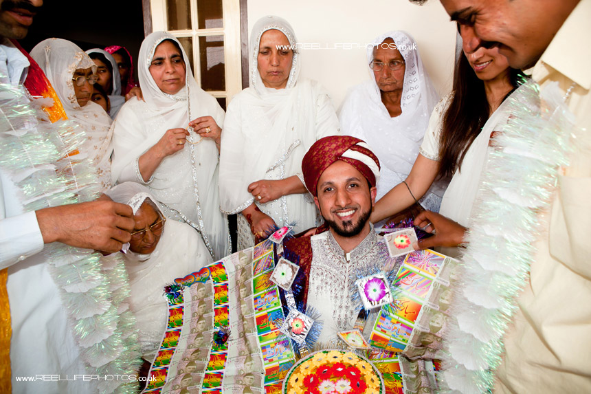 Pakistani traditional wedding customs with symbolic money