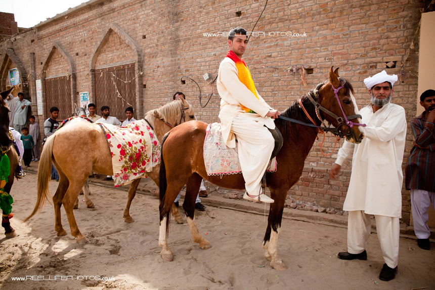 groom's cousin on horseback