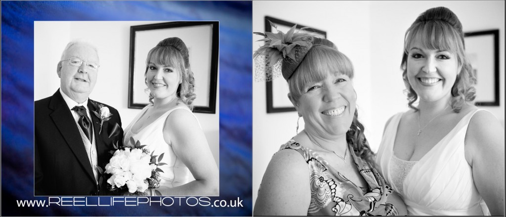 black and white wedding photos at Wentbridge House Hotel