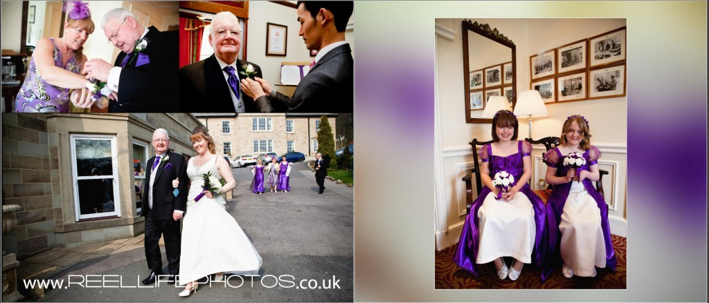 wedding photos at Wentbridge House Hotel, as the bride goes to get married