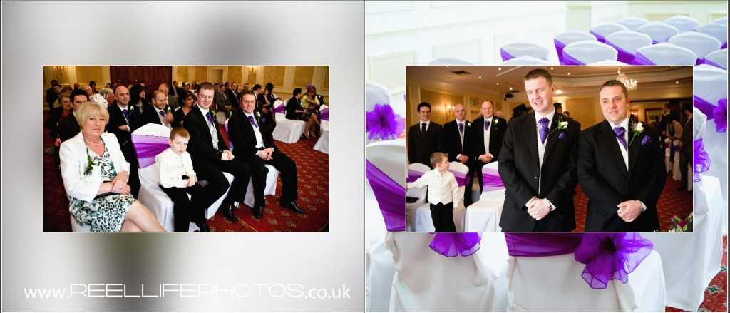 wedding photography at Wentbridge House Hotel storybook wedding album wedding ceremony