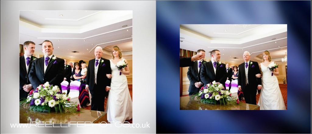 wedding ceremony photos at Wentbridge House Hotel
